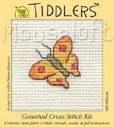 Mouseloft Yellow Butterfly Tiddlers cross stitch kit
